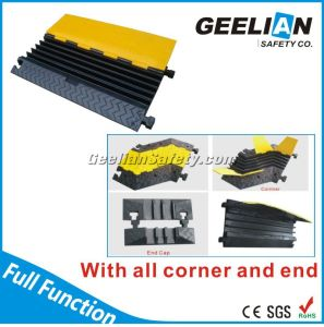 5-Channel Cable Protector/Rubber Cable Protector/Cable Protector Floor pictures & photos