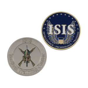 High Quality Customized Enamel Building Coin pictures & photos