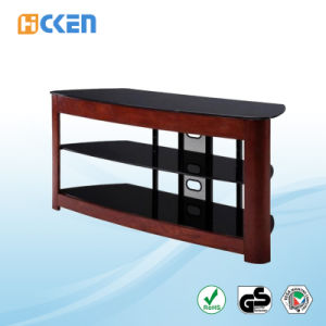 Wholesale Cheap Made in China Glass and Wood MDF LCD LED Modern Corner TV Stand pictures & photos