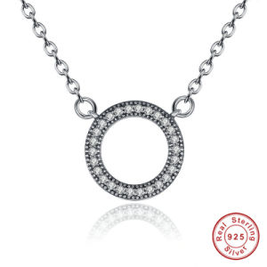 925 Sterling Silver Hearts of Brand Clear Round Shape CZ Pendant Necklaces for Women Party Jewelry pictures & photos