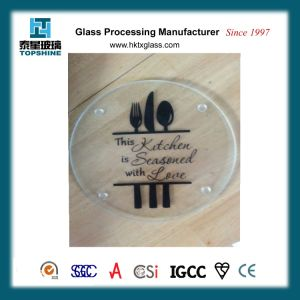 New Design Silk Screen Printing Glass Cutting Board, Chopping Board for Kitchenware pictures & photos
