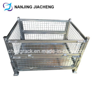 Galvanized Stackable Pallet/Custom Steel Storage Box/Wire Mesh Containers pictures & photos