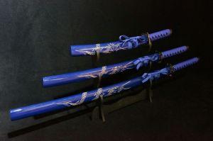 Decorative Blue Dragon Samurai Swords Set Wsd071 pictures & photos