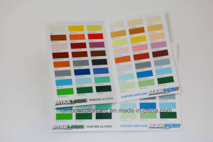 Customized Folded Glossy Paint Brochure for Advertisement pictures & photos