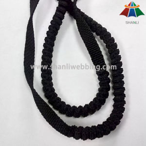12mm Black PP Folded Elastic Webbing for Buffering Pet Leashes pictures & photos