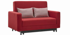 Three Folded Sofa Bed with Armrest pictures & photos