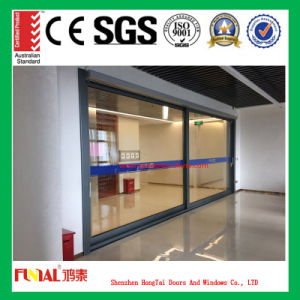 Customized Size Aluminum Glass Sliding Door with Double Glass pictures & photos
