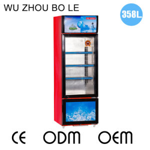 358L Sliding Glass Door Vertical Showcase with Two Functions pictures & photos