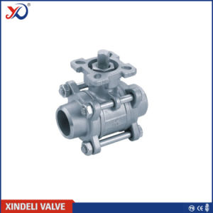 3PC NPT Stainless Steel Threaded Ball Valve with CE Certificate pictures & photos