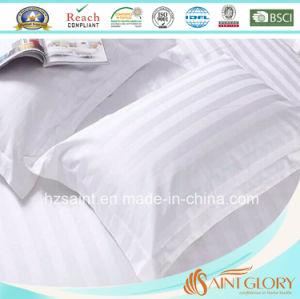 Hot Sale White Pillow Case Pure Cotton 300tc Stripe Pillow Cover pictures & photos