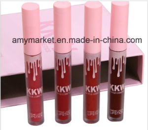 Kkw by Kylie Cosmetic Creme Liquid Lipstick Dark Red Color 4 Color/Set Makeup Lipgloss pictures & photos