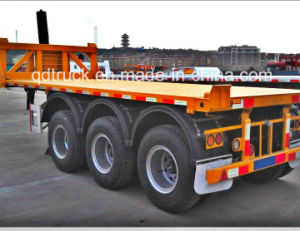 CONTAINER TRUCK WITH TIPPING PLATFORM, CONTAINER DUMPING TRAILER pictures & photos