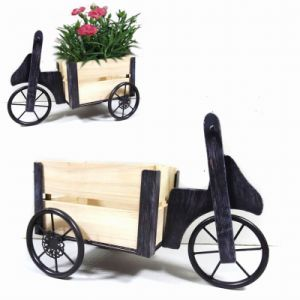 Decorative Decoration Metal Truck Garden Planter Craft with Wooden Carriage pictures & photos