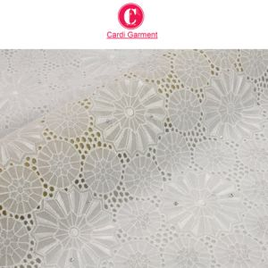 New Arrival High Quality White 100% Cotton Swiss Voile Dry Lace Fabric pictures & photos