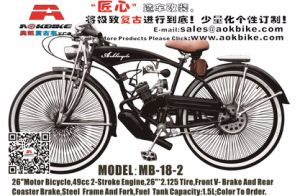 2017 New 48cc Engine Bike Gas Motor Bicycle (MB-18-2) pictures & photos