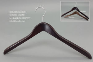 White Wood Regular Clips Hanger with /Without Notches Wooden Clothes Hangers for Jeans pictures & photos