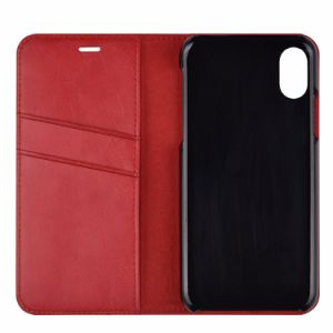 Red All Magnetic Closure PU Leather Case Cover with Card Slot Holder for Apple iPhone 8 pictures & photos