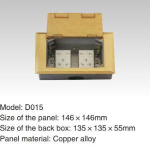 250V/10A 146*146mm Cooper Alloy Waterproof Floor Power Socket pictures & photos