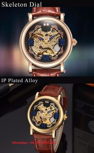 Handsome Smart Automatic Men′s Watch with Genuine Leather Strap Fs623 pictures & photos
