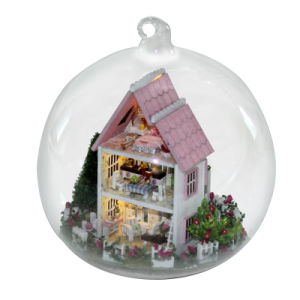 Mini Castle Doll House Model with Glass Ball pictures & photos