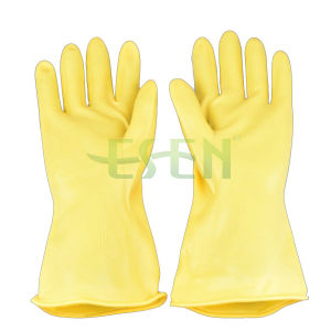 70g-85g Yellow Industrial Latex Glove/Hand Work Rubber Industrial Latex Rubber Gloves pictures & photos