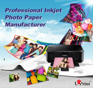 Double Sides 260g High Glossy Photo Paper Pigment Media pictures & photos