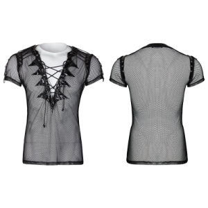 Performance Costume Gothic Transparent Short Sleeves Men T-Shirts (T-468) pictures & photos