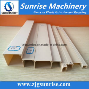Plastic PVC Electric Wire Conduit Trunking Profile Extrusion Line pictures & photos