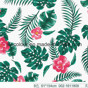 Leaves & Flowers Printed Fabric 80%Nylon 20 %Elastane Fabric for Swimwear pictures & photos