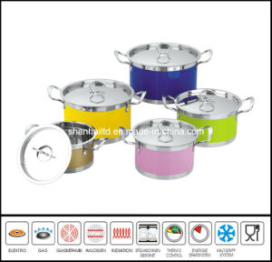 10PCS Color Soup Pot Set pictures & photos