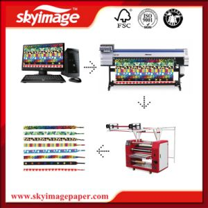 60cm * 90cm Lanyard Ribbon Lace Model Printing with Roll Heat Press Machine pictures & photos