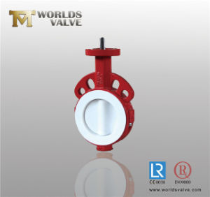 Bray Similar PTFE Lined Wafer Type Butterfly Valve with CE & ISO (D371X-10/16) pictures & photos