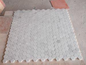 Bianco Carrara White Mosaic, White Marble Mosaic pictures & photos