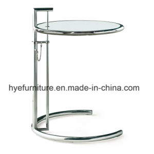 Modern Stainless Steel Tempered Glass Lift Side Table (D19) pictures & photos