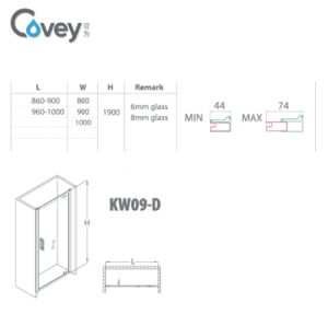 Single Hinge Showerdoor/Shower Screen for Small House (AKW09-D) pictures & photos