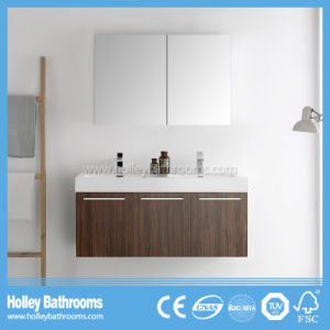 High Quality Wall Mounted Bathroom Furniture with 2 Basins and 5 Doors (BF383D)