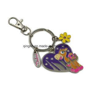 Fancy Creative Design City Promotional Gift Cartoon Key Ring pictures & photos