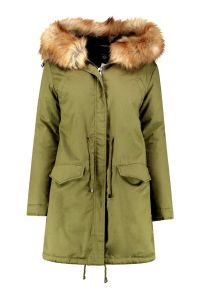 Winter Plus Size Boutique Isla Parka Coat with Fur pictures & photos
