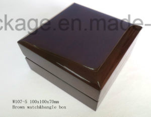 Black Paino Lacquer Wooden Watch Gift Packaging Box pictures & photos