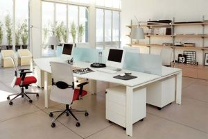 Acrylic Solid Surface Commercial Office Desk Multi Work Station Furniture pictures & photos