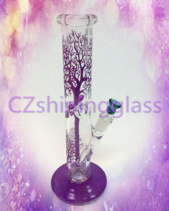 16 Inches Colorful Engraved Tree Shape Glass Smoking Water Pipe pictures & photos