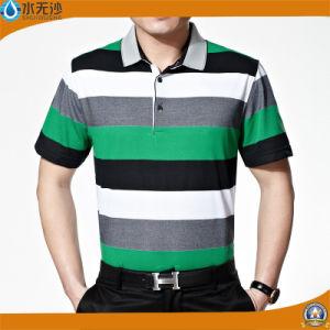 Factory 2017 Men Stripe Polo Shirts Cotton Pique Polo Shirts pictures & photos