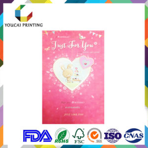 Hot Sale Matte Paper Adorable Birthday Card with Heart-Shaped Decoration pictures & photos
