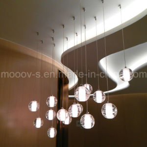 Modern Bocci Meteor Shower Crystal Ball Glass Bubble LED Pendant Light