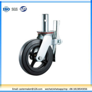 Rubber Cast Iron Ladder Scaffold Caster Wheel pictures & photos