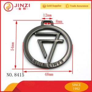 2017 New Product Hollow Round Shape Metal Tag Label Logo pictures & photos