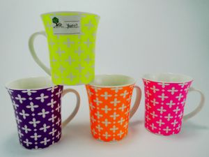 12 Oz Candy Color Ceramic Cup for Daily Use pictures & photos