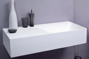Modified Pure Acrylic Solid Surface Bathroom Basin and Sink (GX306) pictures & photos