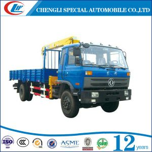 Dongfeng 6 Wheels 5ton Crane Truck pictures & photos