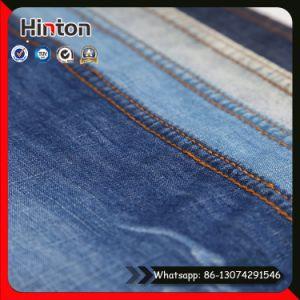 Cotton Polyester Slub Denim Fabric 5.5oz Thin Jean Fabric pictures & photos